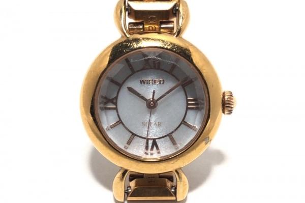 WIRED(ワイアード) 腕時計 V111-0BL0 レディース シェル文字盤 アイボリー