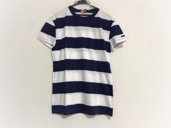 セントジェームス 半袖Tシャツ サイズMLT5 メンズ美品  ネイビー×白 ボーダー