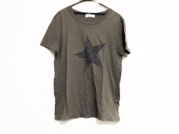 ミナペルホネン 半袖Tシャツ サイズM レディース美品  カーキ スター