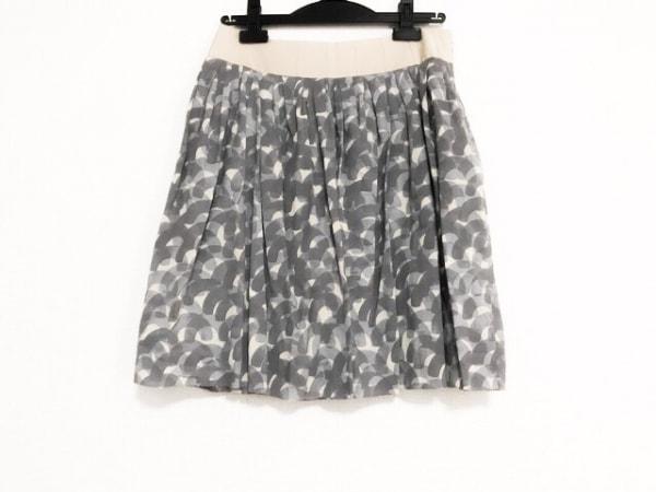 ミナペルホネン スカート サイズ36 S レディース美品  グレー×アイボリー
