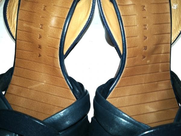CHIE MIHARA(チエミハラ) サンダル 39 レディース美品  ネイビー レザー