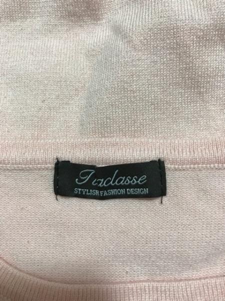 Tiaclasse(ティアクラッセ) 七分袖カットソー サイズL レディース美品  ベージュ