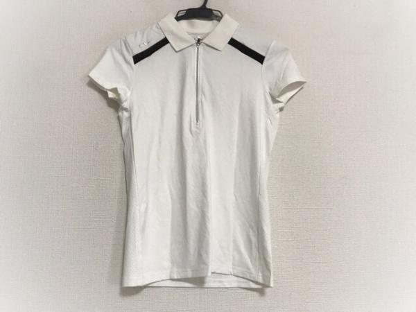 RLX(RalphLauren)(ラルフローレン) 半袖ポロシャツ レディース美品  白×黒