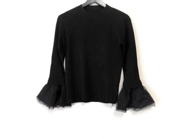 Chesty(チェスティ) 長袖セーター サイズF レディース美品  黒 フリル