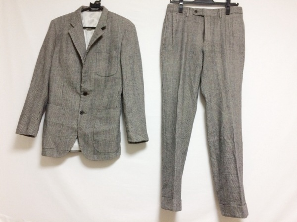 CERRUTI 1881(セルッティ1881) メンズスーツ サイズ48S メンズ 黒×白 千鳥格子