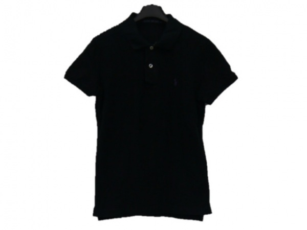 RalphLauren(ラルフローレン) 半袖ポロシャツ サイズL レディース美品  黒
