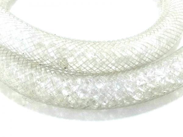 スワロフスキー ブレスレット 化学繊維×スワロフスキークリスタル×金属素材 クリア