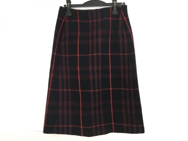 ミラオーウェン スカート サイズ1 S レディース美品  ネイビー×黒×レッド