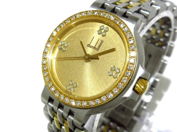 dunhill/ALFREDDUNHILL(ダンヒル) 腕時計美品  エリート - レディース ゴールド