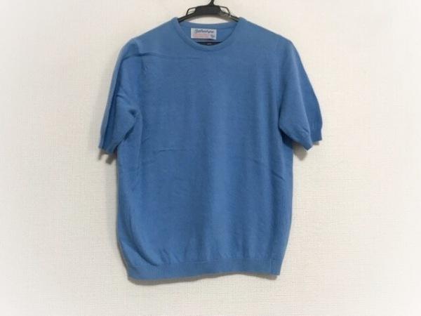 Ballantyne(バランタイン) 半袖セーター サイズ40 M レディース美品  ブルー