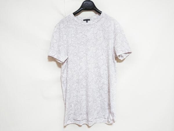 theory(セオリー) 半袖Tシャツ レディース新品同様  アイボリー×ベージュ