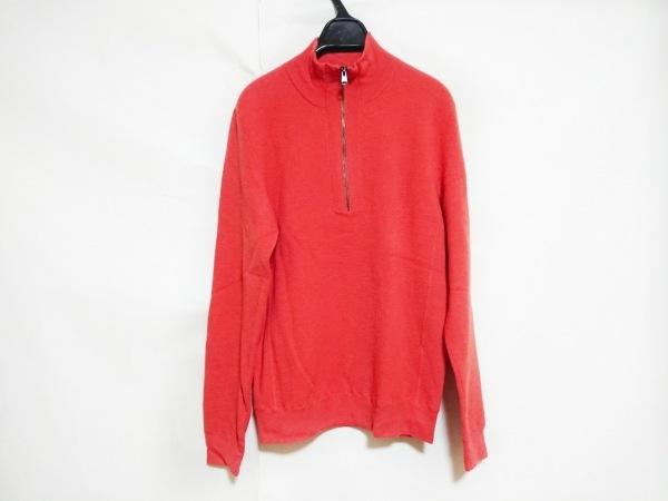 theory(セオリー) 長袖セーター メンズ オレンジ ハーフジップ
