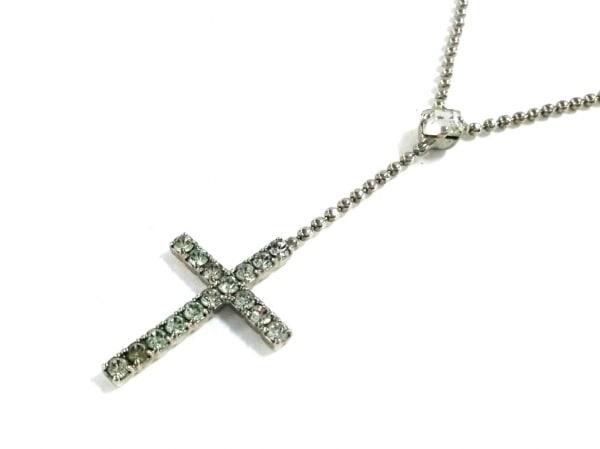 AGATHA(アガタ) ネックレス 金属素材×ラインストーン シルバー×クリア クロス
