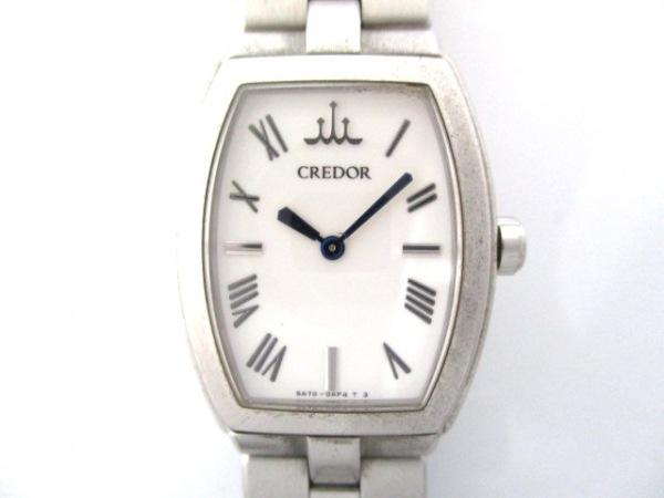 SEIKO CREDOR(セイコークレドール) 腕時計 Aqua 5A70-0AE0 レディース 白