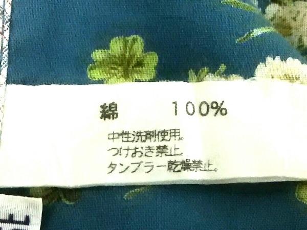 ピンクハウス 小物美品  グリーン×マルチ テーブルクロス/花柄/フリル/チェック柄
