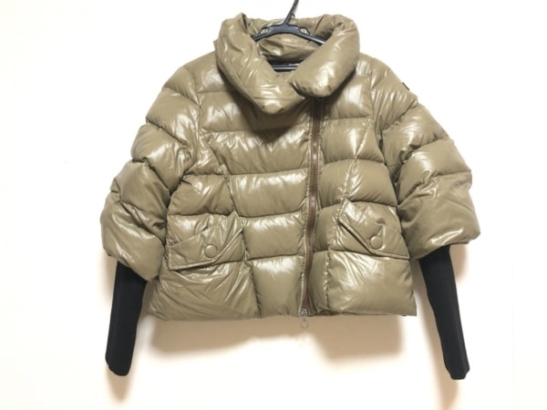 タトラス ダウンジャケット サイズ2 M レディース ミラ LTA-4143-12 カーキ×黒 冬物