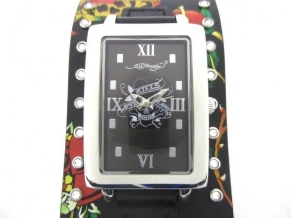 Ed Hardy(エドハーディー) 腕時計美品  TT-BLK6799 レディース 黒