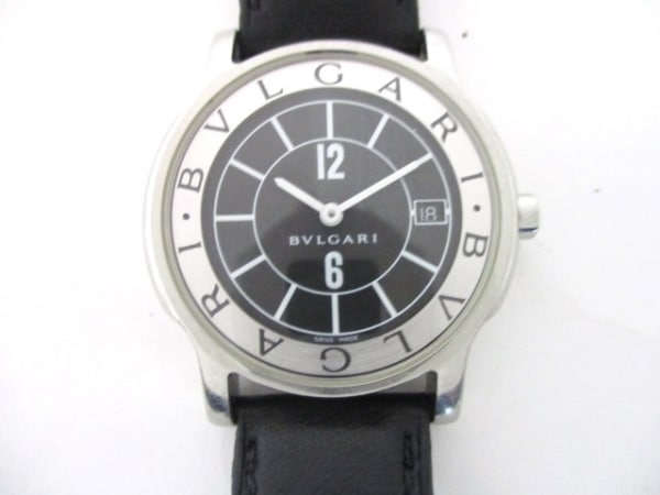 BVLGARI(ブルガリ) 腕時計 ソロテンポ ST35S ボーイズ 黒×白×シルバー