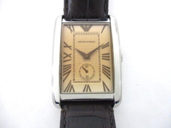 EMPORIOARMANI(アルマーニ) 腕時計 AR-1605 メンズ ベージュ