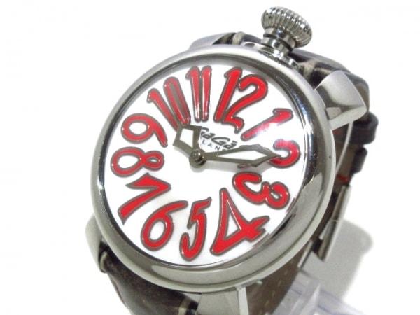 GAGA MILANO(ガガミラノ) 腕時計 マヌアーレ40 5020 レディース 白×レッド