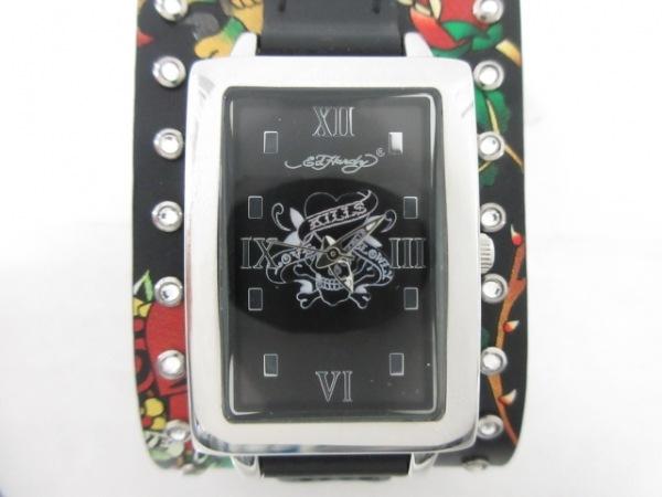 Ed Hardy(エドハーディー) 腕時計美品  TT-BLK6692 レディース 黒
