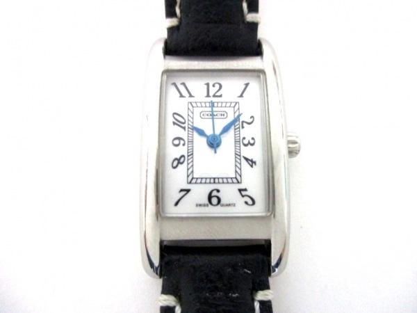 コーチ 腕時計 レキシントン ミニ エロンゲーテッド CA.16.7.14.0406 レディース 白