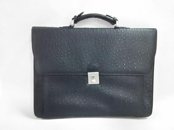 Giorgio Valenti(ジョルジオ バレンチ) ビジネスバッグ美品  黒 型押し加工 合皮