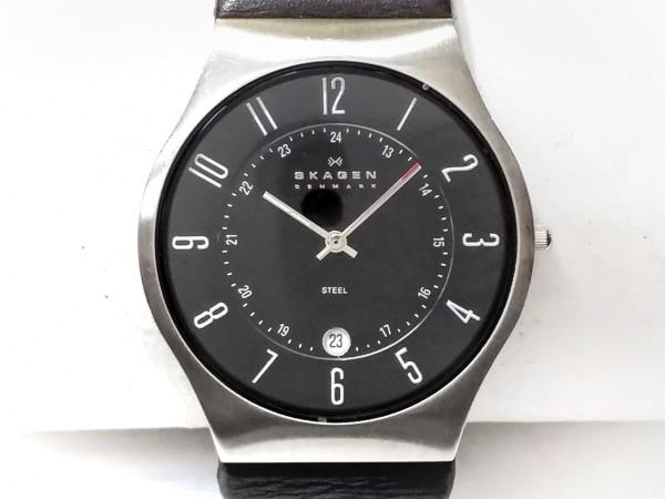 SKAGEN(スカーゲン) 腕時計 233XXLSLB メンズ 革ベルト 黒