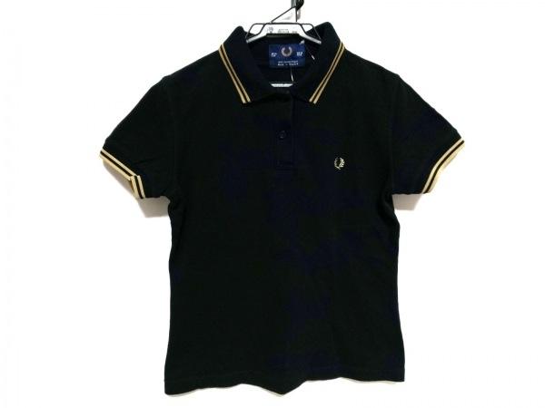 FRED PERRY(フレッドペリー) 半袖ポロシャツ サイズ6 M レディース 黒