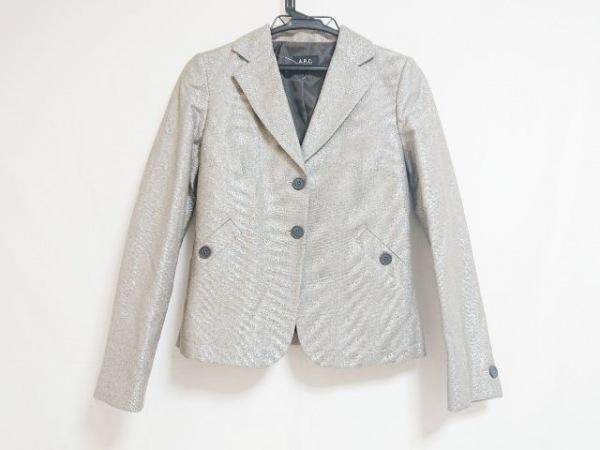 A.P.C.(アーペーセー) ジャケット サイズ36 S レディース グレー×シルバー 肩パッド