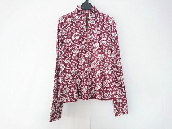 ケイトスペード 長袖カットソー サイズM レディース美品  1JMU0211 ボルドー×白 花柄