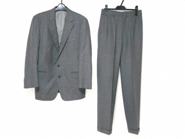 J.PRESS(ジェイプレス) シングルスーツ メンズ グレー ネーム刺繍