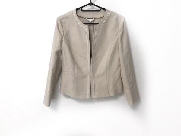 ANAYI(アナイ) ジャケット サイズ38 M レディース美品  ベージュ×白 ステッチ