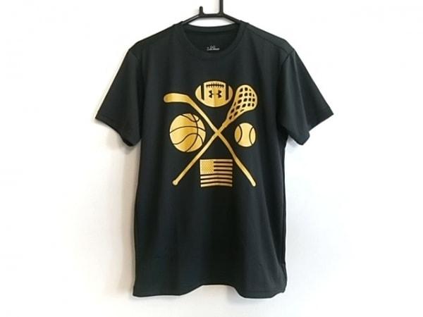 UNDER ARMOUR(アンダーアーマー) 半袖Tシャツ サイズSM レディース美品  黒×イエロー