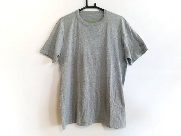 アンダーアーマー 半袖Tシャツ サイズMD レディース グレー×ライトグリーン