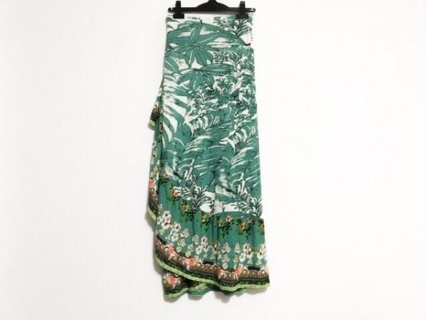 デシグアル 巻きスカート サイズM レディース美品  ライトグレー×マルチ 花柄