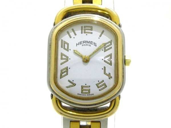 HERMES(エルメス) 腕時計 ラリー - レディース 白