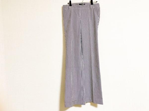 セオリー パンツ サイズ0 XS レディース美品  ダークグレー×アイボリー ストライプ
