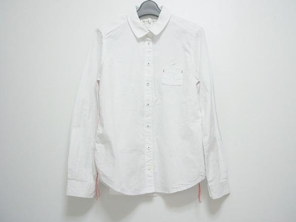 アトリエドゥサボン 長袖シャツブラウス サイズF レディース 白×レッド