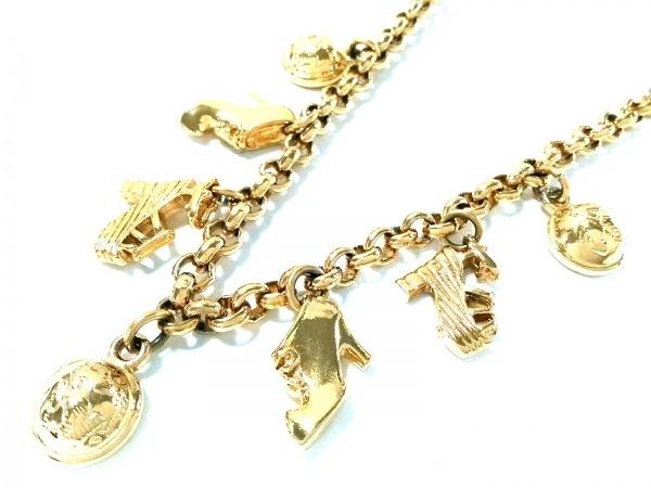 サルバトーレフェラガモ ネックレス美品  - 金属素材 ゴールド 靴モチーフ