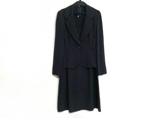 クリアインプレッション ワンピーススーツ サイズ3 L レディース美品  ダークグレー