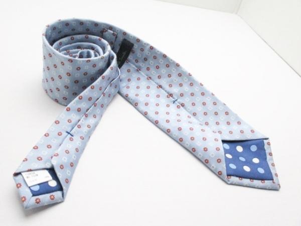 PaulSmith(ポールスミス) ネクタイ メンズ美品  ライトブルー×ボルドー×白 花柄