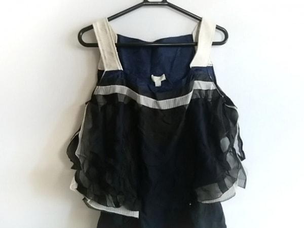 ニナリッチ ドレス サイズ2 M レディース新品同様  ネイビー×黒×アイボリー