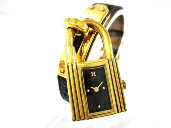 HERMES(エルメス) 腕時計 ケリーウォッチ - レディース ゴールド金具 黒