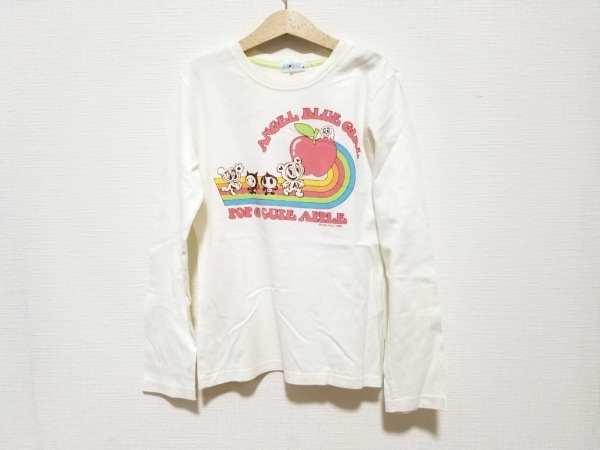 エンジェルブルー 長袖Tシャツ サイズM レディース美品  白×ピンク×マルチ