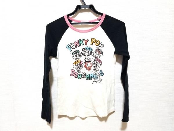 エンジェルブルー 長袖Tシャツ サイズL レディース美品  白×黒×マルチ 子供服