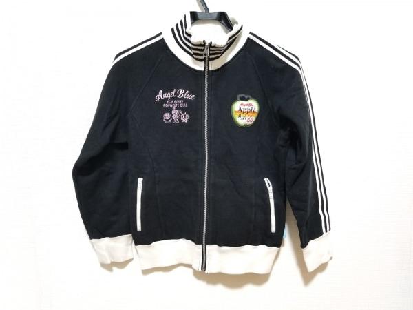 エンジェルブルー トレーナー サイズM レディース美品  黒×白×ピンク 子供服/刺繍