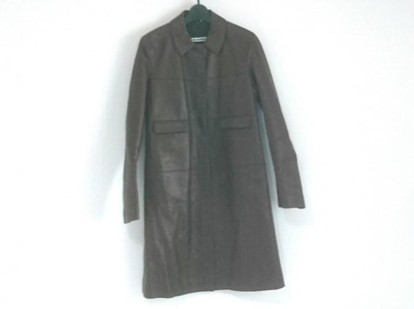 JILSANDER(ジルサンダー) コート サイズ36 S レディース ボルドー 春・秋物/レザー
