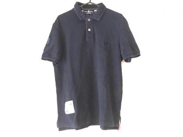 PsychoBunny(サイコバニー) 半袖ポロシャツ サイズXL メンズ ネイビー 刺繍/スカル