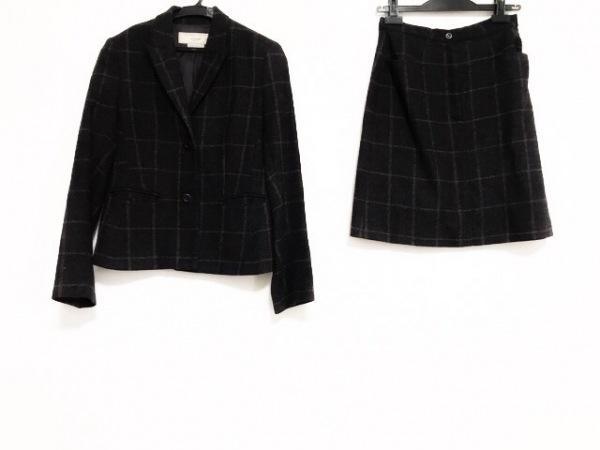 ローラアシュレイ スカートスーツ レディース美品  パープル×ライトグレー